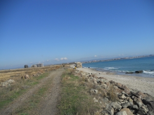 Coastral walk:  camping Aheloy- Pomorie Lake, the Salt works- Pomorie