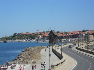 Nessebar with a guide